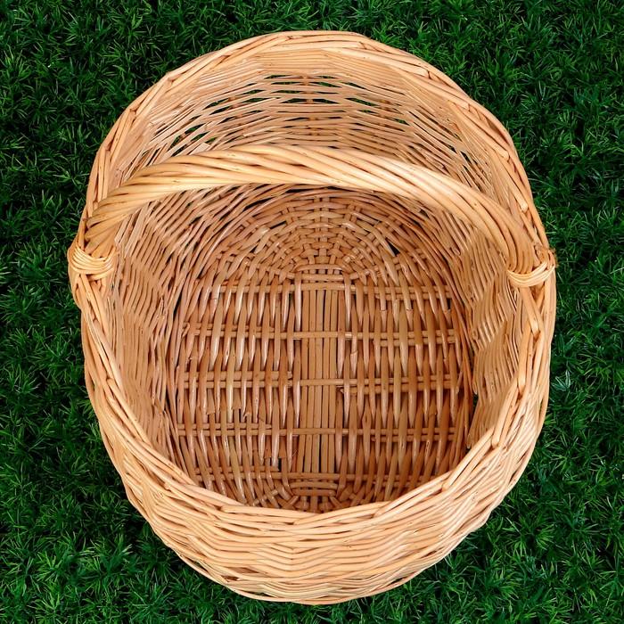 Корзина «Грибная», №3, 36×30×40 см, 12 л, ручное плетение, лоза