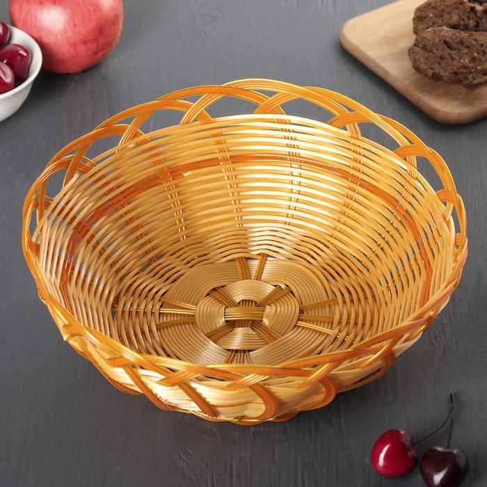 "Корзинка для фруктов и хлеба 26х26х12 см ""Колос"""