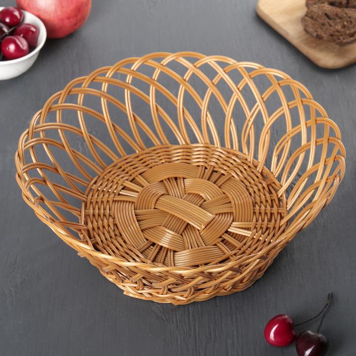 "Корзинка для фруктов и хлеба 28х28х11 см ""Пустыня"""