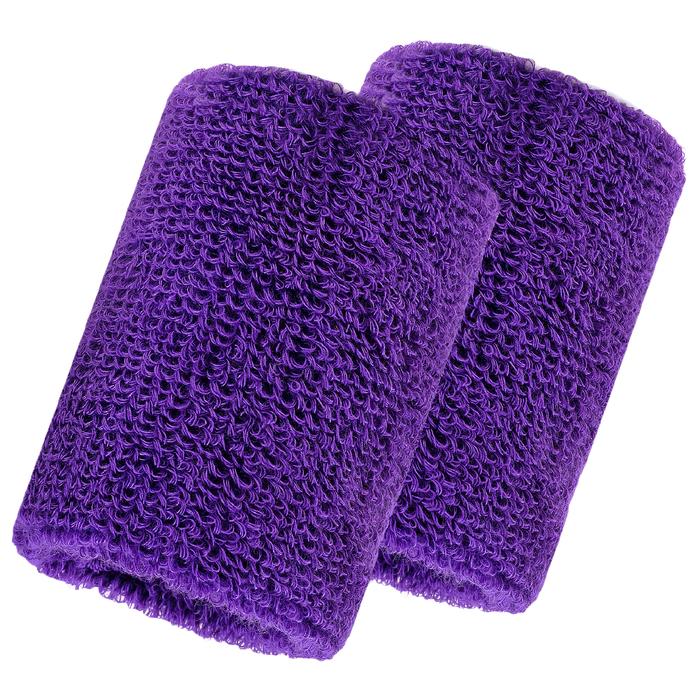 Набор для фитнеса (напульсник-2 шт, повязка на голову), цвет фиолетовый
