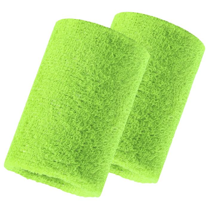 Набор для фитнеса (напульсник-2 шт, повязка на голову), цвет зеленый