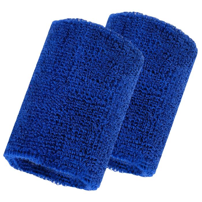 Набор для фитнеса (напульсник-2 шт, повязка на голову), цвет синий