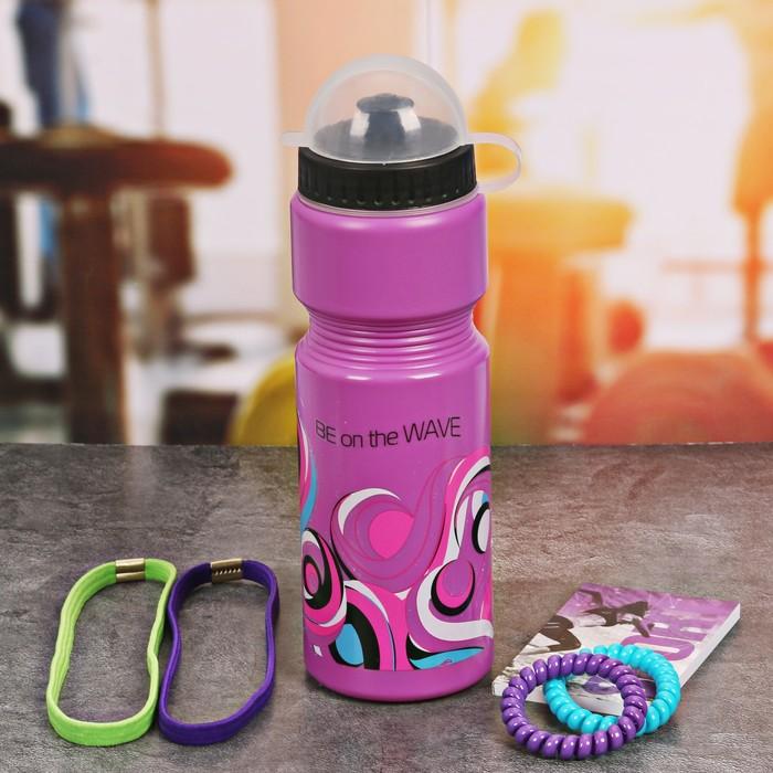 Набор «Be on the wave»: бутылка для воды 800 мл, повязка для волос 2шт, блокнот