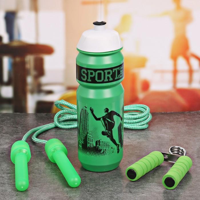 Набор «Sport is life»: бутылка для воды 900 мл, скакалка, эспандер