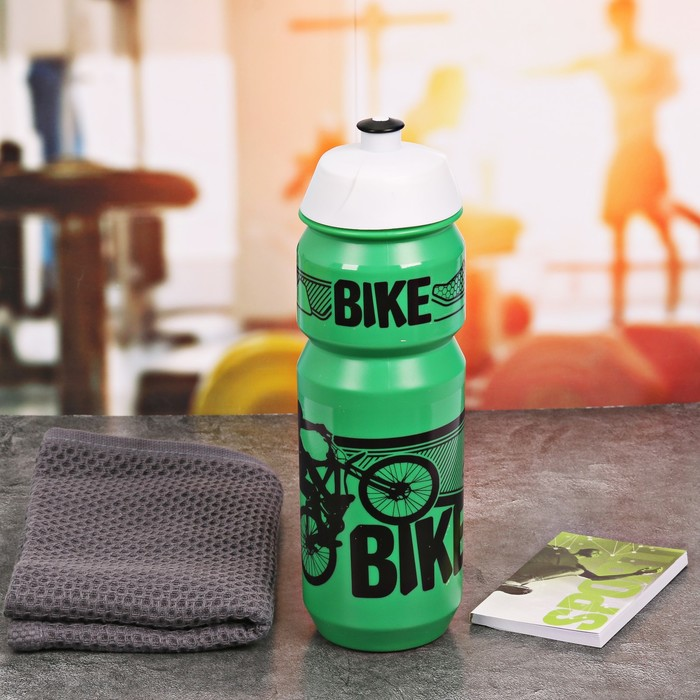 Набор «Bike»: бутылка для воды 800 мл, полотенце, блокнот