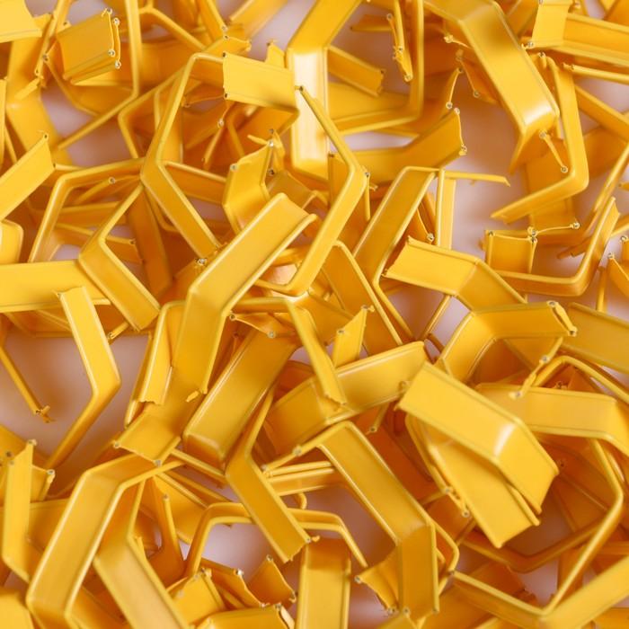 Клип-лента в нарезке, загнутая, желтый, 5 см
