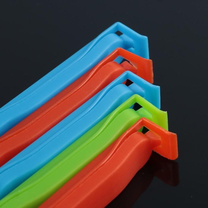 Набор зажимов для пакета 7,5 см, 5 шт, цвет МИКС