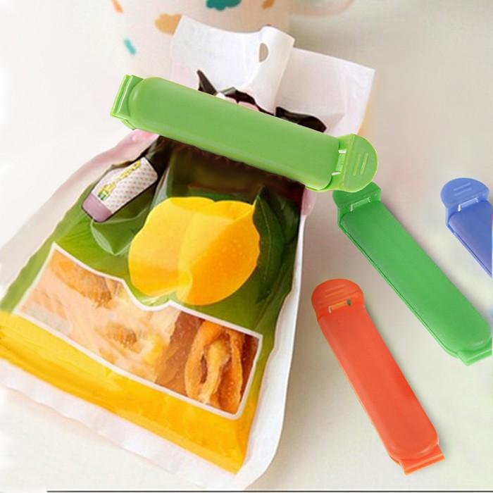Набор зажимов для пакета (5 шт), цвет МИКС