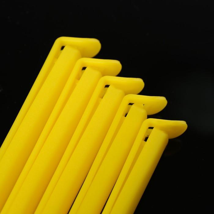 Зажимы для пакетов 5 шт, 12 см, цвет МИКС