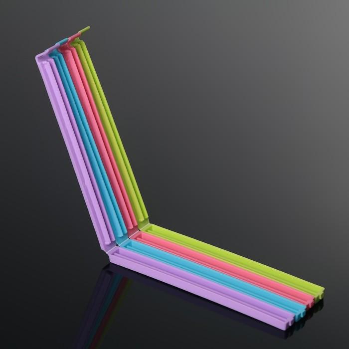 Набор зажимов для пакета 17,5 см 4 шт, цвет МИКС