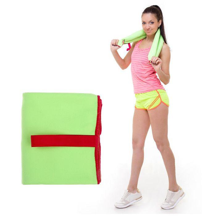 Спортивное полотенце ONLITOP, размер 80х130 см, салатовый, 200 г/м2