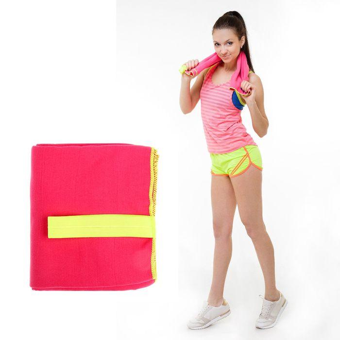 Спортивное полотенце ONLITOP, размер 80х130 см, розовый, 200 г/м2
