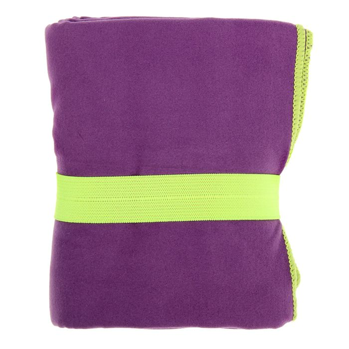 Спортивное полотенце ONLITOP, размер 80х130 см, фиолетовый, 200 г/м2