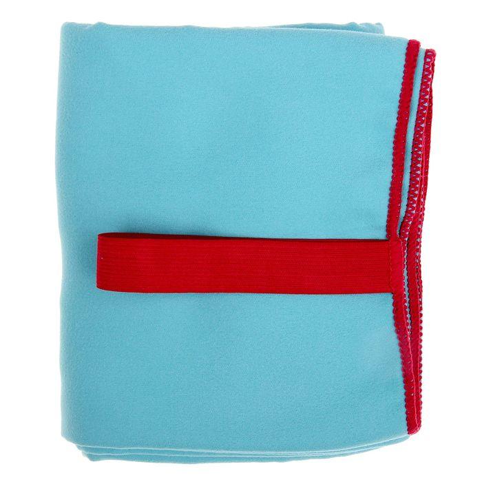 Спортивное полотенце ONLITOP, размер 70х90 см, голубой, 200 г/м2