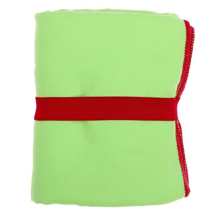 Спортивное полотенце ONLITOP, размер 70х90 см, салатовый, 200 г/м2