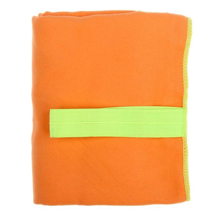 Спортивное полотенце ONLITOP, размер 80х130 см, оранжевый, 200 г/м2