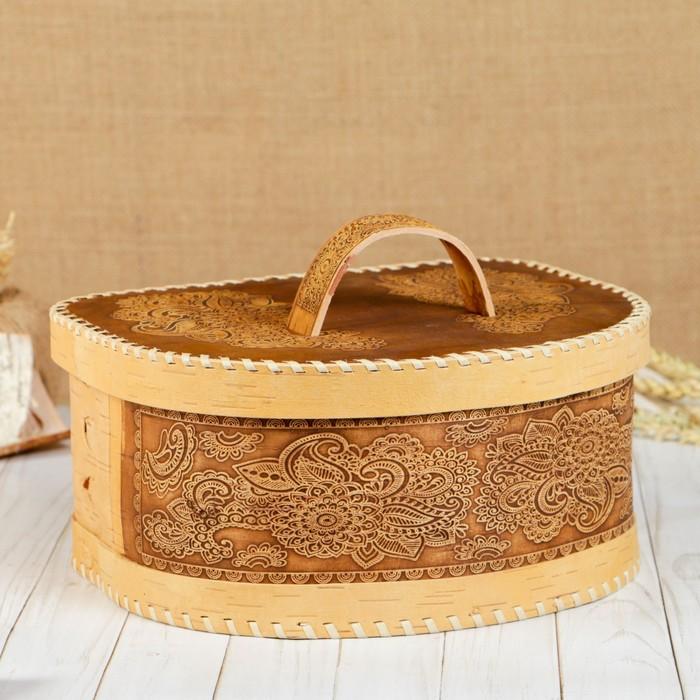 Хлебница «Фея», 30×26×13 см, береста