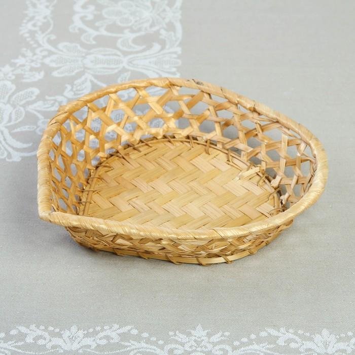 Хлебница «Сердечко», 23×23×5 см, бамбук