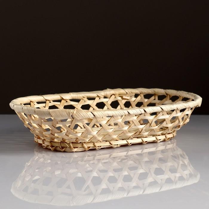 Сухарница «Плетёнка», 17×28×5 см, бамбук
