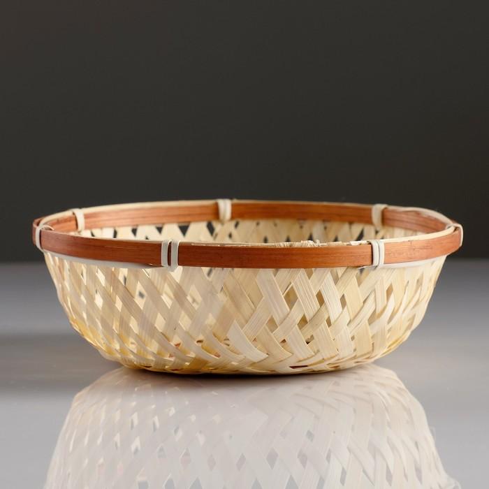 Сухарница «Плетёнка», 18×4 см, бамбук