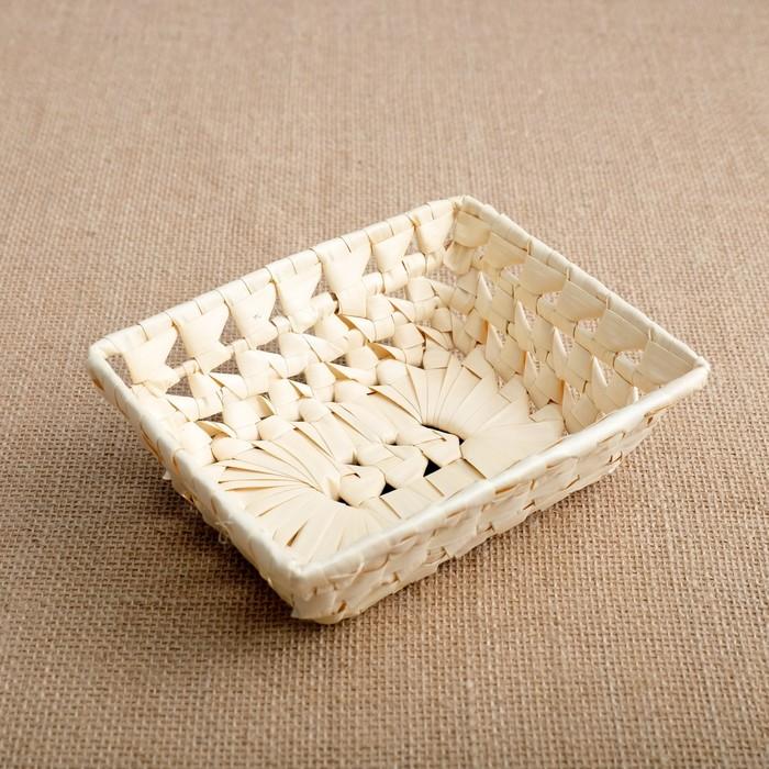 Хлебница «Плетёнка», 16,5×13×5 см, лист пальмы