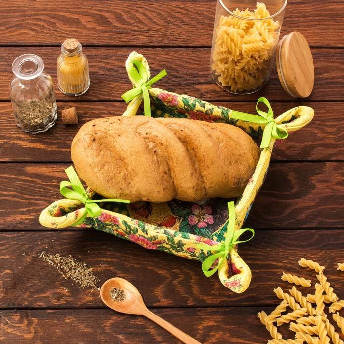 """Хлебница """"Доляна"""" Мёд 30*30 см, 100% хлопок, рогожка 162 г/м2"""