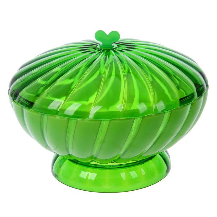 """Ваза для хлеба и фруктов 1,5 л """"Грация"""", цвет зелёный"""