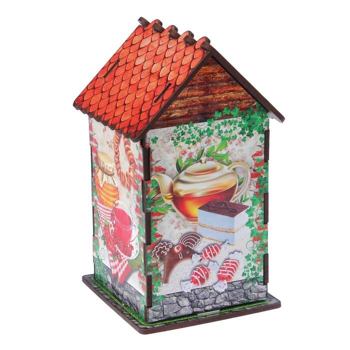 """Чайный домик """"Угощения"""", 9,8×9,8×17,4 см"""