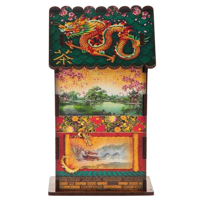 """Чайный домик """"Китайский стиль"""", 9,8×9,8×17,4 см"""