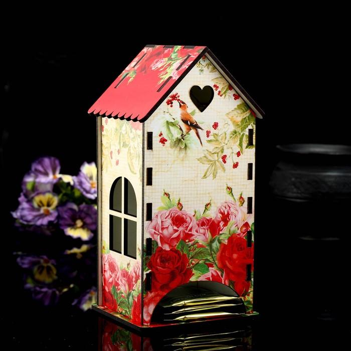 Чайный домик «Розы винтаж», 9,3×9,3×20 см