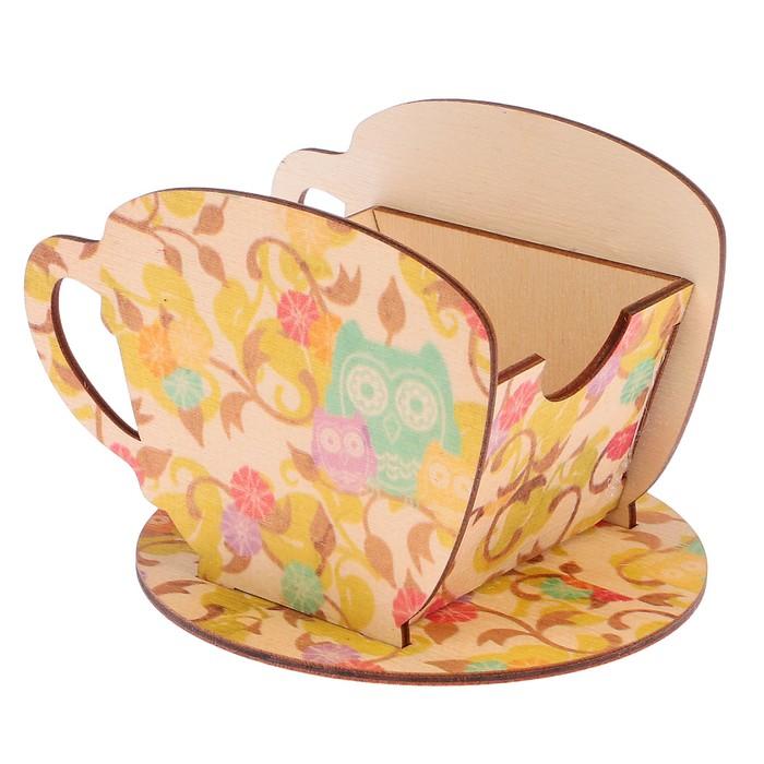 "Чайный домик ""Чашка с совами"" 8х8,5х9см"