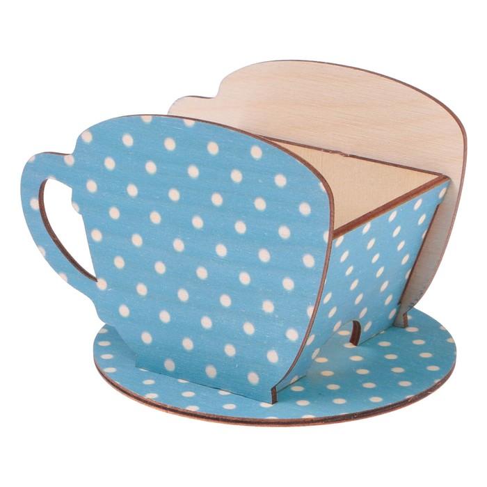 "Чайный домик Чашка с горошком"" 8х8,5х9см"