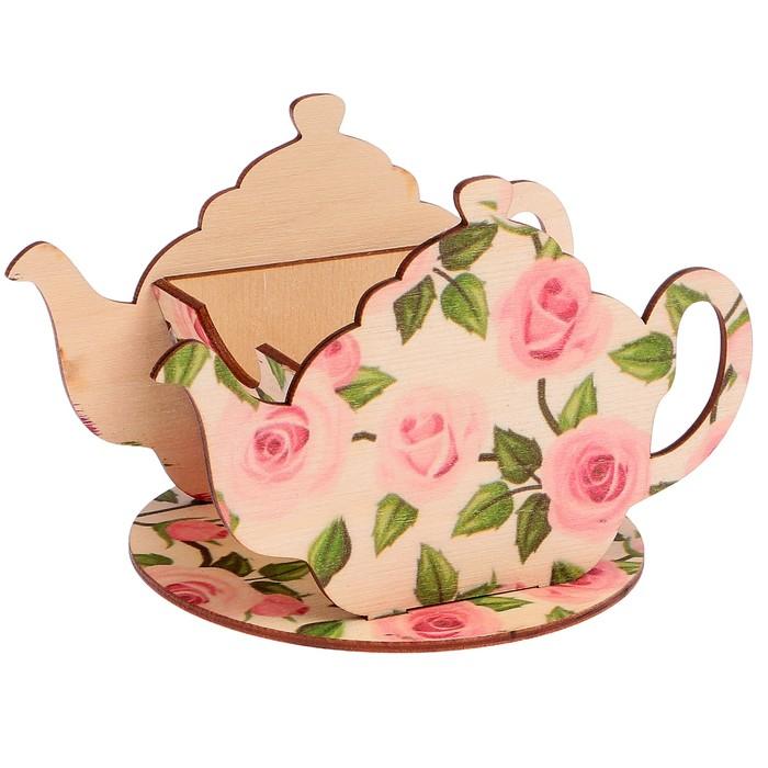 "Чайный домик ""Чайничек со розами"" 15х8,5х10см"