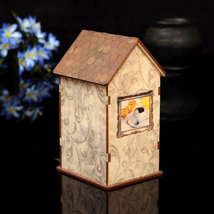 """Чайный домик """"Натюрморт"""" с УФ-печатью, 8,5х9,5х16см"""