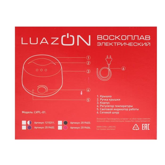 Воскоплав баночный электрический LuazON LVPL-01, 100 Вт, 400 г, регул. темп, черный
