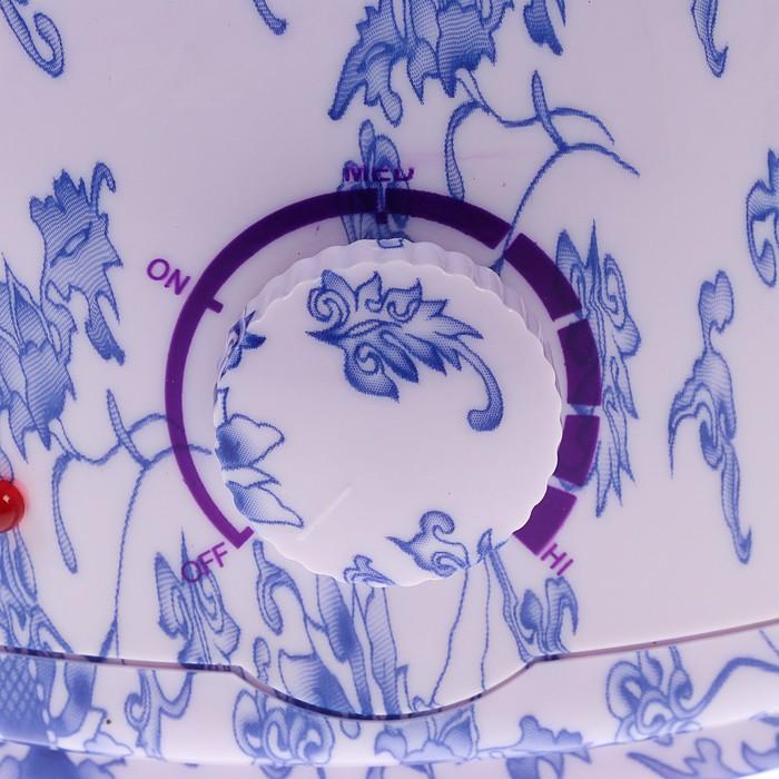 Воскоплав баночный электрический LuazON LVPL-01, 100 Вт, 400 г, регул. темп, синие цветы