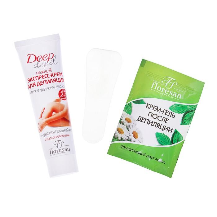 Нежный экспресс-крем для депиляции Deep Depil с эксрактом ромашки, для чувствительной кожи,100 мл