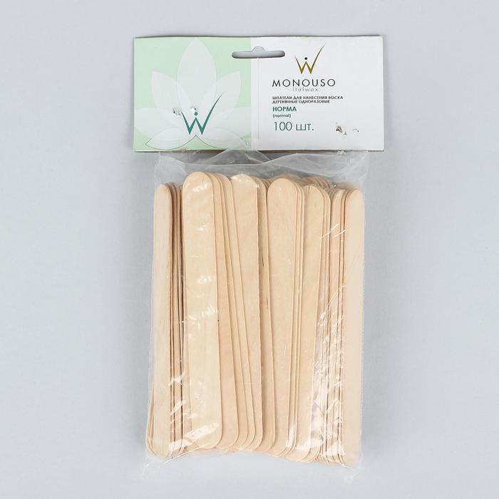 Шпатель для депиляции, деревянный, 15 × 1,7 см