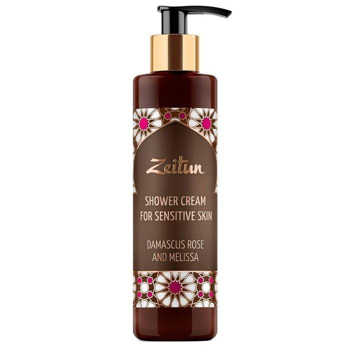 Крем-гель для душа Zeitun «Дамасская роза и мелисса», для чувствительной кожи, 250 мл