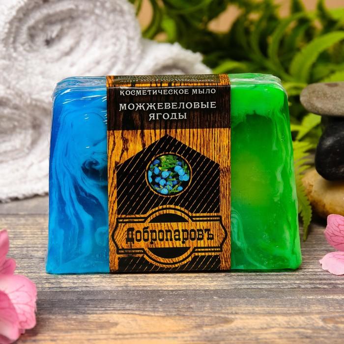 """Косметическое мыло для бани и сауны """"Можжевеловые ягоды"""", """"Добропаровъ"""", 100 гр."""