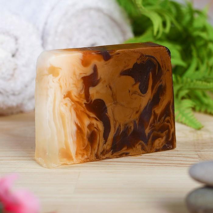 """Натуральное мыло для бани и сауны """"Корица — Кофе"""" 100гр"""