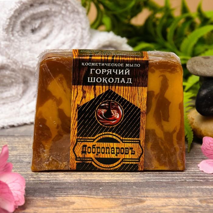 """Косметическое мыло для бани и сауны """"Горячий шоколад"""", """"Добропаровъ"""", 100 гр."""