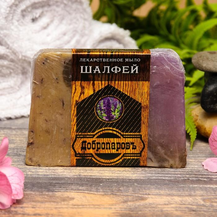 """Лекарственное мыло для бани и сауны """"Шалфей"""", """"Добропаровъ"""", 100 гр."""