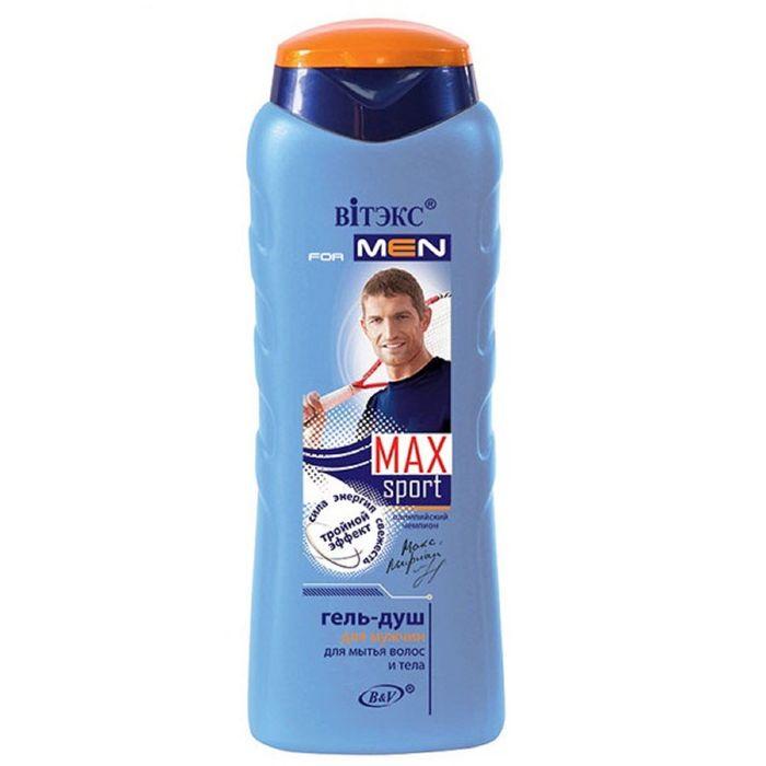Гель-душа для волос и тела Bitэкс for men max sport, 400 мл