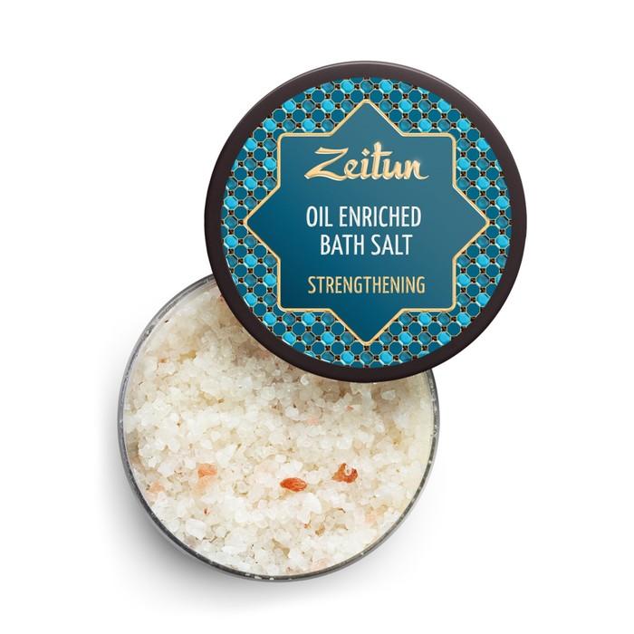 Ароматическая соль для ванн Zeitun «Общеукрепляющая», с маслами розового дерева, сосны и розмарина, 250 г