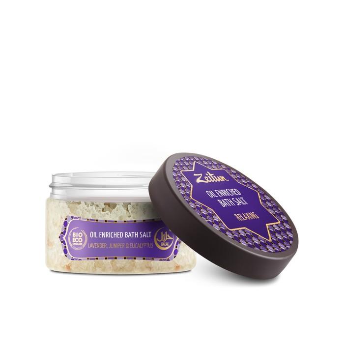 Ароматическая соль для ванн Zeitun «Антистресс», с маслами эвкалипта, лаванды и можжевельника, 250 г