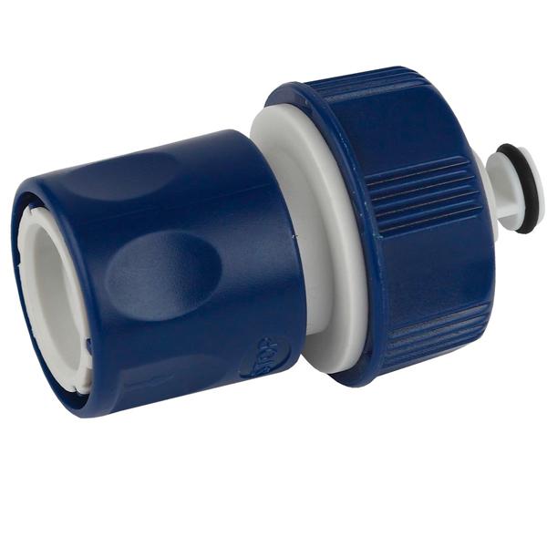 Соединитель для шланга Green Apple ЕСО GAES20-07с аквастопом19 мм (3/4)