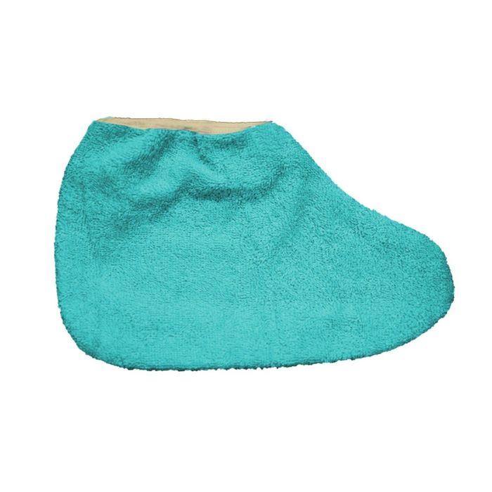 Носки для парафинотерапии JessNail, махровые голубые, пара