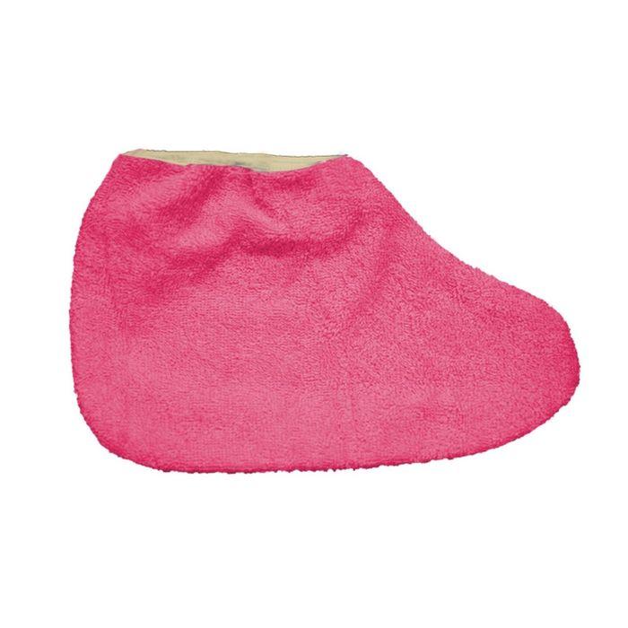 Носки для парафинотерапии JessNail, махровые розовые, пара