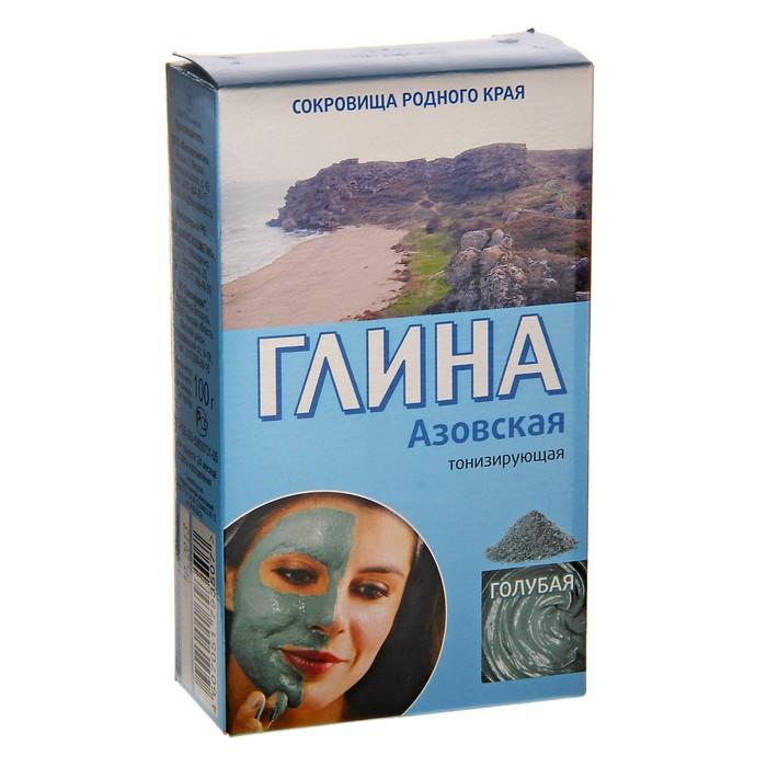 Глина косметическая голубая Азовская 100г